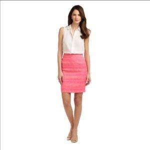 Lily Pulitzer hot pink pencil skirt
